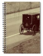Vintage Amish Buggy And Bicycle Spiral Notebook
