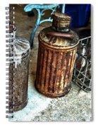 Hdr Vintage Art  Cans And Bottles Spiral Notebook