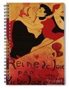 Vintage Art Poster Advertisement Entertainment Toulouse Lautrec 1892 Spiral Notebook