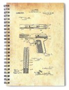 Vintage Automatic Pistol Patent Spiral Notebook