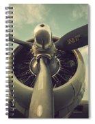 Vintage B-17 Flying Fortress Propeller Spiral Notebook