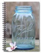 Vintage Ball Mason Blue Spiral Notebook