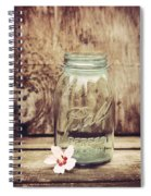 Vintage Ball Mason Jar Spiral Notebook