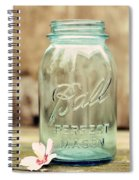 Vintage Ball Mason  Spiral Notebook