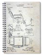 Vintage Barber Chair Patent Spiral Notebook