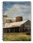 Barn -vintage Barn With Brick Silo - Luther Fine Art Spiral Notebook