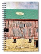 Vintage Barn - Wood And Stone Spiral Notebook