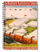 Vintage Barnum And Bailey Poster Spiral Notebook