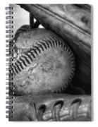 Vintage Baseball And Glove Spiral Notebook