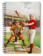 Vintage Baseball Print Spiral Notebook