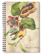 Vintage Bird Study-b Spiral Notebook