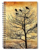Vintage Blackbirds On A Winter Tree Spiral Notebook