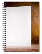 Vintage Blank Notepad Spiral Notebook