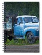 Vintage Blue Chevrolet Pickup Truck Spiral Notebook