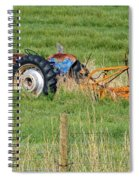 Vintage Blue Tractor Spiral Notebook