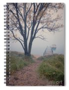 Vintage Boat At Small Dock Spiral Notebook