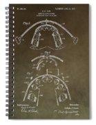 Vintage Braces Patent Spiral Notebook