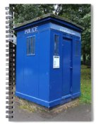 Vintage British Blue Police Phone Box Spiral Notebook
