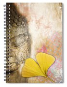 Vintage Buddha And Ginkgo Spiral Notebook