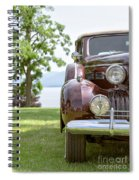 Vintage Caddy At Lake George Spiral Notebook
