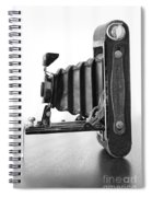 Vintage Camera - Black And White Spiral Notebook