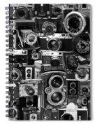 Vintage Camera Montage Spiral Notebook