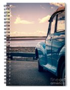 Vintage Car At The Beach  Spiral Notebook