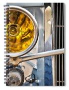 Vintage Car Light Spiral Notebook