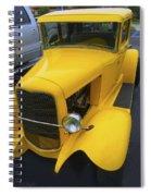 Vintage Car Yellow Spiral Notebook