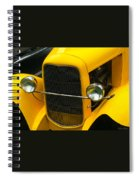 Vintage Car Yellow Detail Spiral Notebook