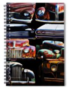 Vintage Cars Collage 2 Spiral Notebook