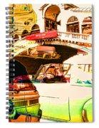 Vintage Cars Collage Spiral Notebook
