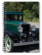 Vintage Cars Green Chevrolet Spiral Notebook