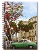 Vintage Cars Parked On A Street Spiral Notebook