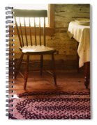 Vintage Chair And Table Spiral Notebook