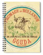 Vintage Cheese Label 1 Spiral Notebook