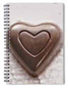 Vintage Chocolate Heart Spiral Notebook