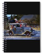 Vintage Christmas Car Spiral Notebook