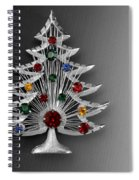Vintage Christmas Tree Spiral Notebook