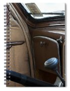 Vintage Chrysler Auto Dashboard And Steering Wheel Poster Look Spiral Notebook