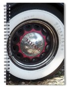 Vintage Chrysler Automobile Wide Whitewall Tire Poster Look Usa Spiral Notebook