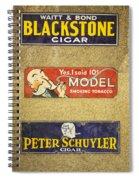 Vintage Cigar And Tobacco Signs Dsc07152 Spiral Notebook
