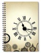 Vintage Clocks Spiral Notebook