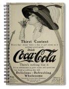 Vintage Coca Cola Ad 1911 Spiral Notebook