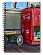 Vintage Coca-cola And Rocket Wagon Spiral Notebook