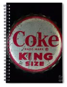 Vintage Coca Cola Bottle Cap Spiral Notebook