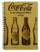 Vintage Coca Cola Bottles Spiral Notebook