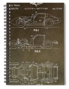 Vintage Corvette Patent Spiral Notebook