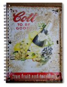 Vintage Cott Fruit Juice Sign Spiral Notebook