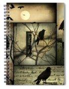 Vintage Crow Art Collage Spiral Notebook